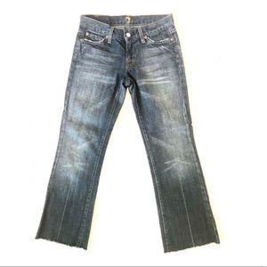 7FAMK Bootcut Cut off Jeans